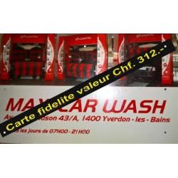 Carte Fidélité Maxicarwash Valeur 312- chf